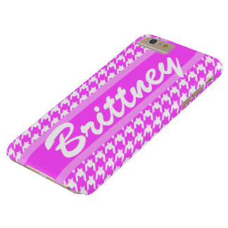 Personalized Name Cute Houndstooth Pattern Barely There iPhone 6 Plus Case