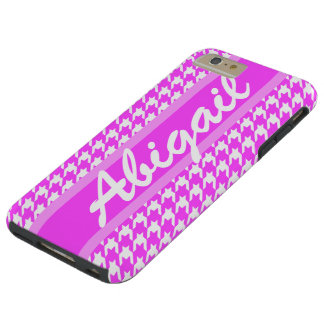 Personalized Name Cute Houndstooth Pattern Tough iPhone 6 Plus Case