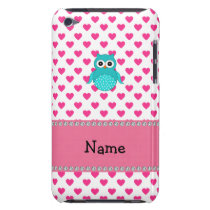 Personalized name cute owl barely there iPod cover