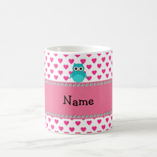 Personalized name cute owl coffee mug