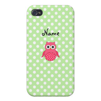 Personalized name cute owl iPhone 4 case