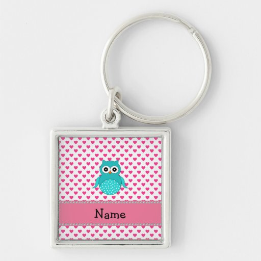 Personalized name cute owl key chains