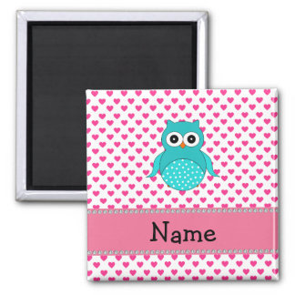 Personalized name cute owl magnet
