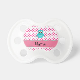 Personalized name cute owl pacifier