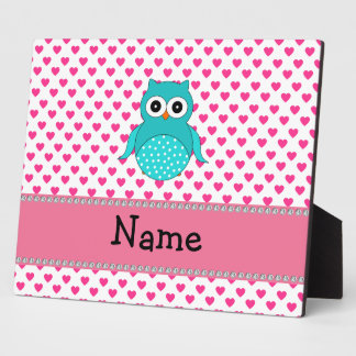 Personalized name cute owl plaque