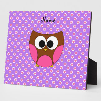 Personalized name cute owl display plaques