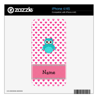 Personalized name cute owl iPhone 4S skins