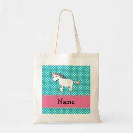 Personalized name cute unicorn bag