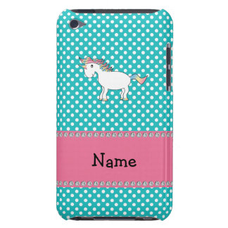 Personalized name cute unicorn barely there iPod cover