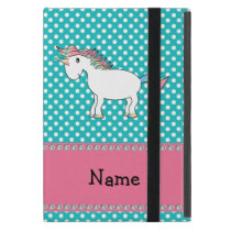 Personalized name cute unicorn cover for iPad mini