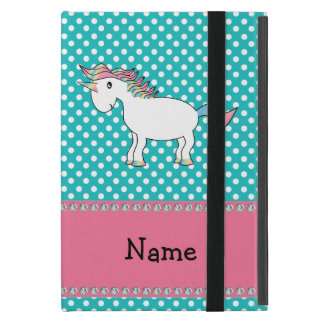 Personalized name cute unicorn iPad mini cover