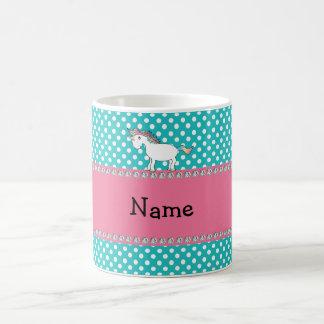 Personalized name cute unicorn classic white coffee mug