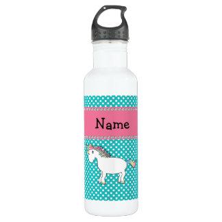 Personalized name cute unicorn 24oz water bottle