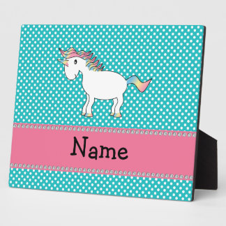 Personalized name cute unicorn plaque