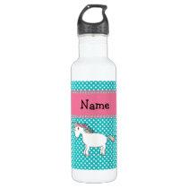 Personalized name cute unicorn water bottle