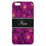 Personalized name dark purple roses iPhone 5C case