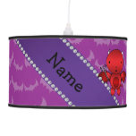 Personalized name devil purple bats pendant lamp