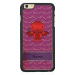Personalized name devil purple bats carved® maple iPhone 6 plus case