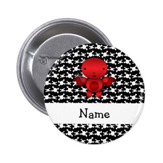 Personalized name devil skulls 2 inch round button