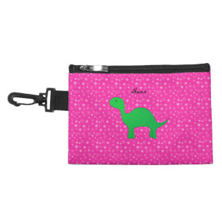 Personalized name dinosaur pink stars accessories bags