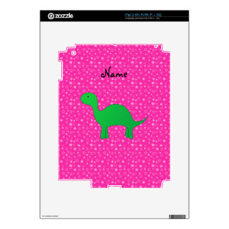 Personalized name dinosaur pink stars decal for iPad 2