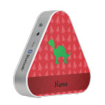 Personalized name dinosaur red christmas trees bluetooth speaker