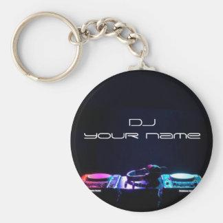 Personalized name dj keychain