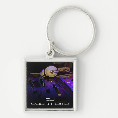 Personalized name dj keychain