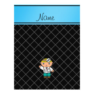 Personalized name doctor black criss cross full color flyer