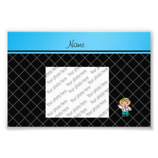 Personalized name doctor black criss cross art photo