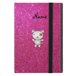 Personalized name dog pink glitter cover for iPad mini