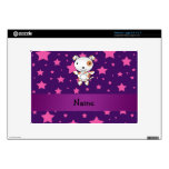 Personalized name dog pink stars purple large netbook decal