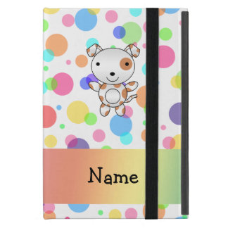 Personalized name dog rainbow polka dots case for iPad mini
