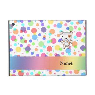 Personalized name dog rainbow polka dots iPad mini case