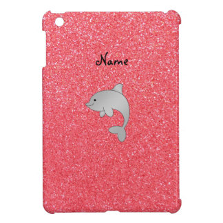 Personalized name dolphin pink glitter iPad mini case