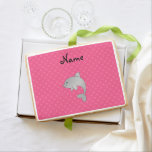 Personalized name dolphin pink polka dots jumbo cookie