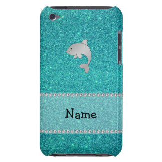 Personalized name dolphin turquoise glitter iPod touch Case-Mate case