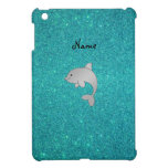 Personalized name dolphin turquoise glitter iPad mini covers