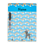 Personalized name donkey blue rainbows dry erase whiteboards