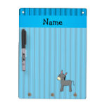 Personalized name donkey blue stripes Dry-Erase boards