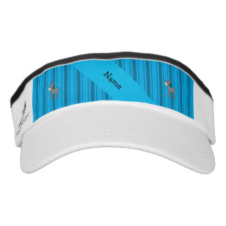 Personalized name donkey blue stripes headsweats visor