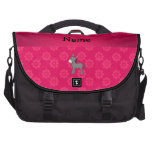 Personalized name donkey pink flowers laptop bags
