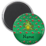 Personalized name dragon green candy canes bows refrigerator magnets