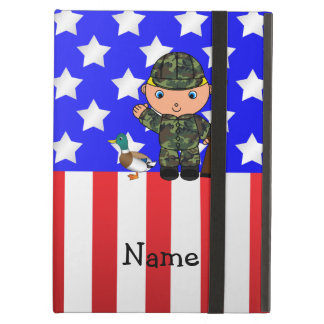 Personalized name duck hunter american flag iPad air case