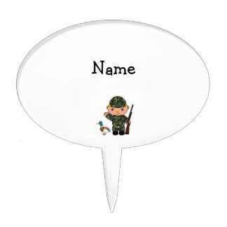 Personalized name duck hunter cake topper