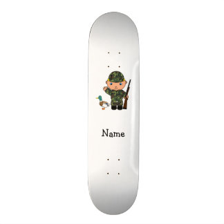 Personalized name duck hunter custom skateboard