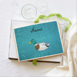 Personalized name duck turquoise glitter jumbo cookie