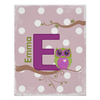 """Personalized Name """"E"""" Poster"""