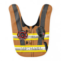 Personalized Name Firefighter Fashion Statement Bib