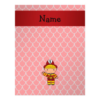 "Personalized name fireman red dragon scales 8.5"" x 11"" flyer"